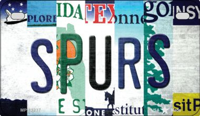 Spurs Strip Art Novelty Metal Motorcycle Plate MP-13237