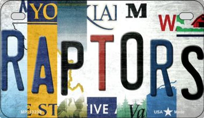 Raptors Strip Art Novelty Metal Motorcycle Plate MP-13238