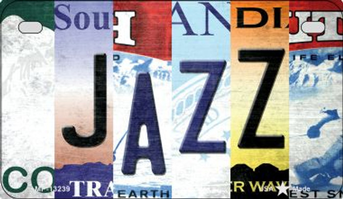 Jazz Strip Art Novelty Metal Motorcycle Plate MP-13239