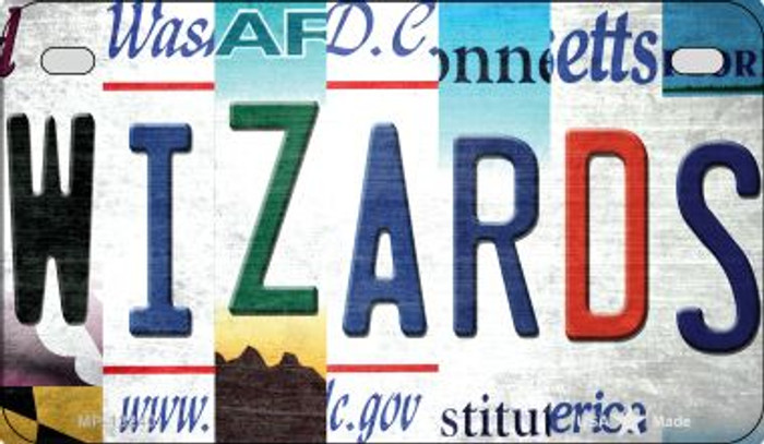 Wizards Strip Art Novelty Metal Motorcycle Plate MP-13240