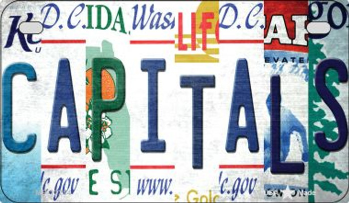 Capitals Strip Art Novelty Metal Motorcycle Plate MP-13254