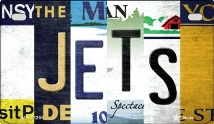 Jets Strip Art Novelty Metal Motorcycle Plate MP-13255