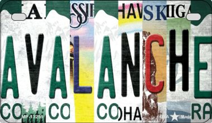 Avalanche Strip Art Novelty Metal Motorcycle Plate MP-13259