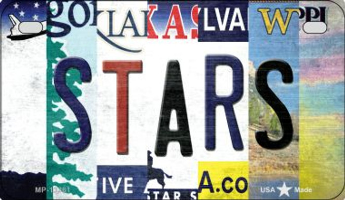 Stars Strip Art Novelty Metal Motorcycle Plate MP-13261