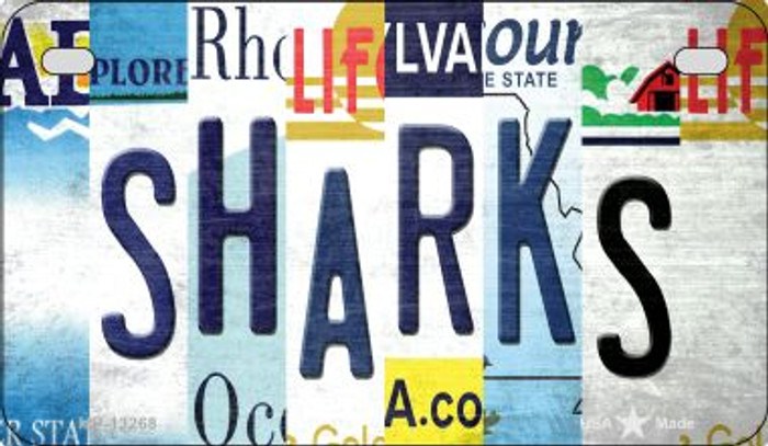 Sharks Strip Art Novelty Metal Motorcycle Plate MP-13268