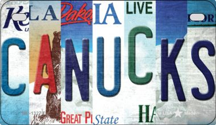 Canucks Strip Art Novelty Metal Motorcycle Plate MP-13270
