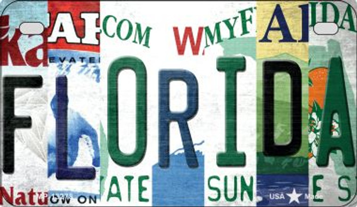 Florida Strip Art Novelty Metal Motorcycle Plate MP-13278