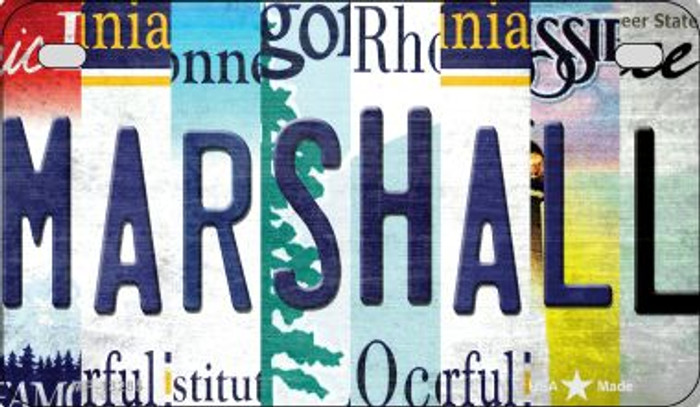 Marshall Strip Art Novelty Metal Motorcycle Plate MP-13285
