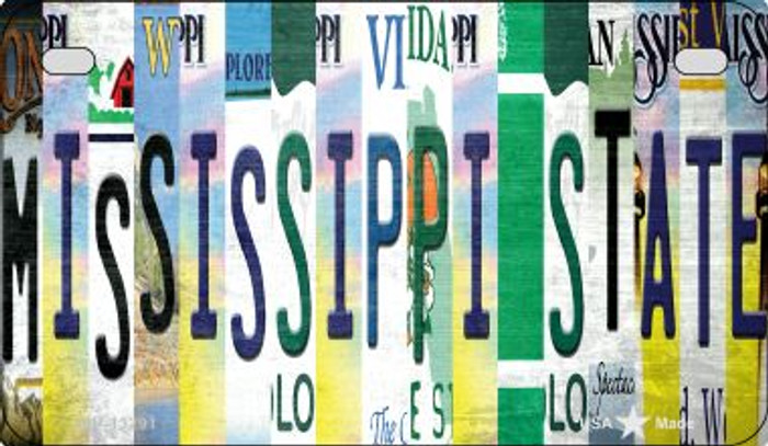 Mississippi State Strip Art Novelty Metal Motorcycle Plate MP-13291