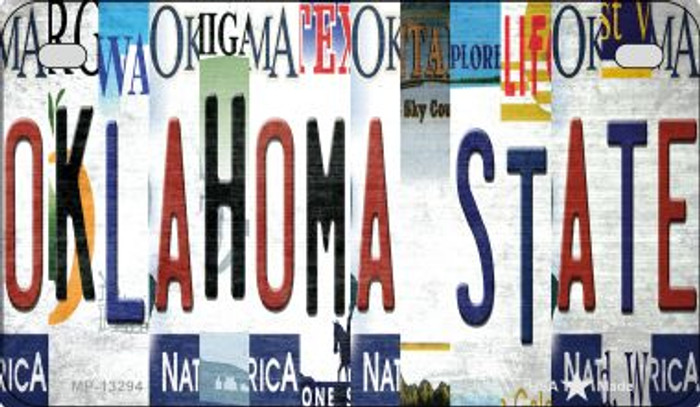 Oklahoma State Strip Art Novelty Metal Motorcycle Plate MP-13294