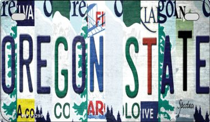 Oregon State Strip Art Novelty Metal Motorcycle Plate MP-13295