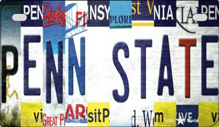 Penn State Strip Art Novelty Metal Motorcycle Plate MP-13296