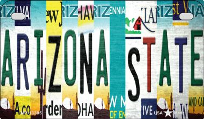 Arizona State Strip Art Novelty Metal Motorcycle Plate MP-13305