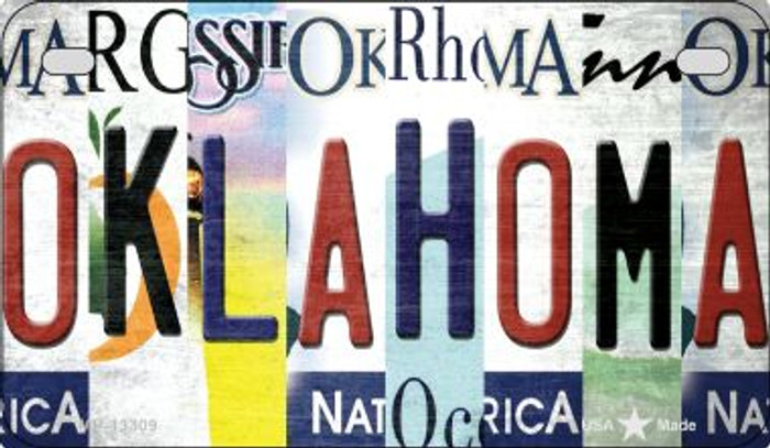 Oklahoma Strip Art Novelty Metal Motorcycle Plate MP-13309
