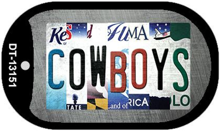 Cowboys Strip Art Novelty Metal Dog Tag Necklace DT-13151