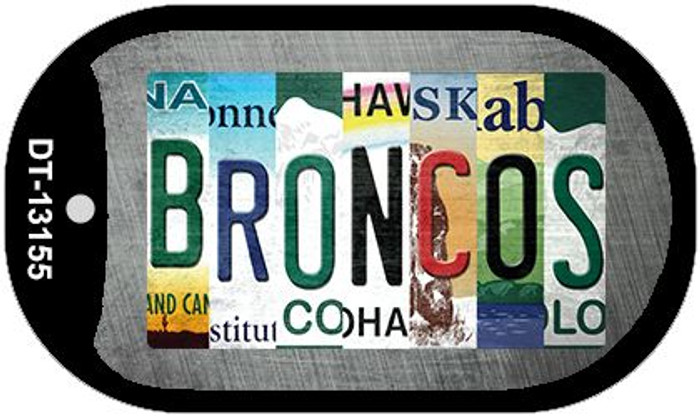 Broncos Strip Art Novelty Metal Dog Tag Necklace DT-13155