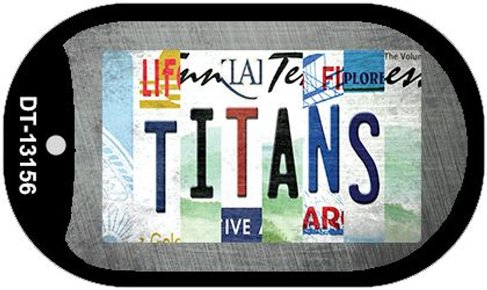 Titans Strip Art Novelty Metal Dog Tag Necklace DT-13156