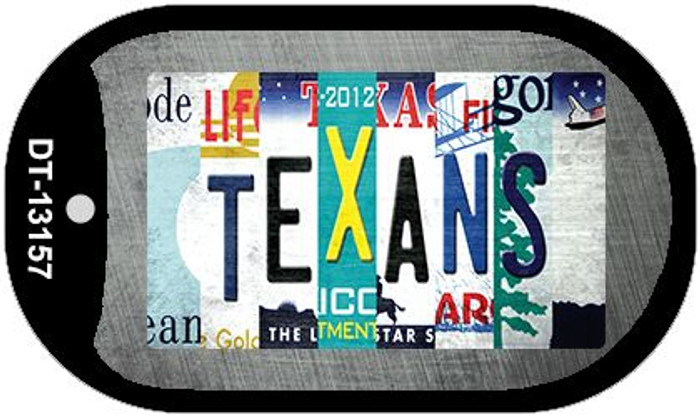 Texans Strip Art Novelty Metal Dog Tag Necklace DT-13157