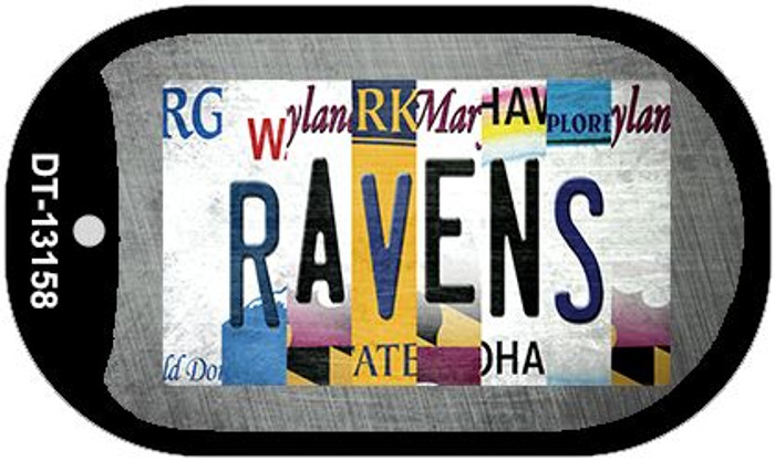 Ravens Strip Art Novelty Metal Dog Tag Necklace DT-13158