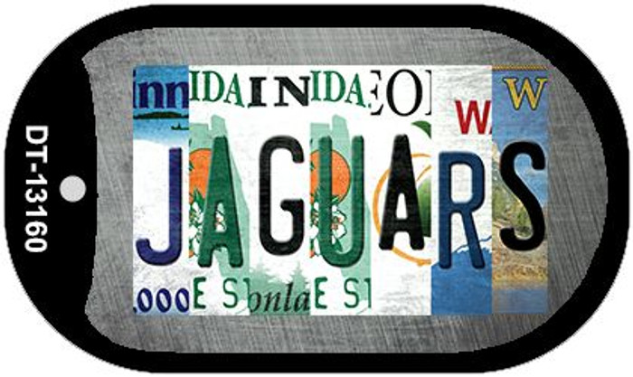 Jaguars Strip Art Novelty Metal Dog Tag Necklace DT-13160