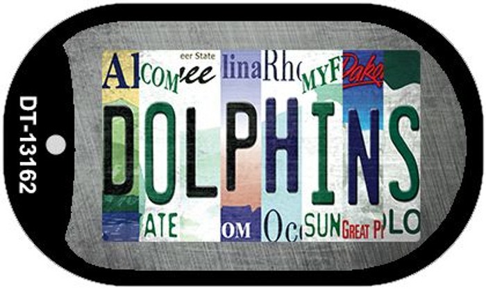 Dolphins Strip Art Novelty Metal Dog Tag Necklace DT-13162