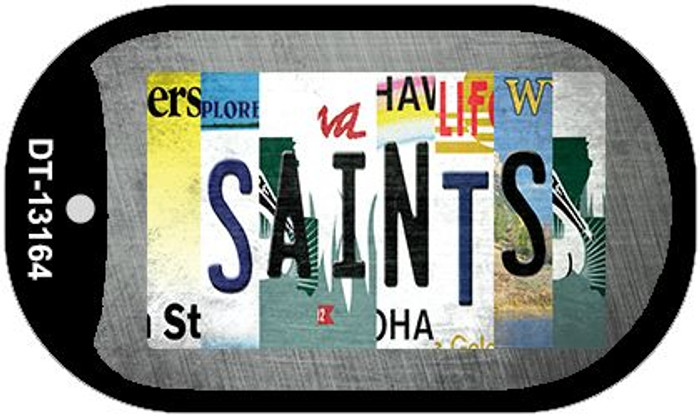 Saints Strip Art Novelty Metal Dog Tag Necklace DT-13164