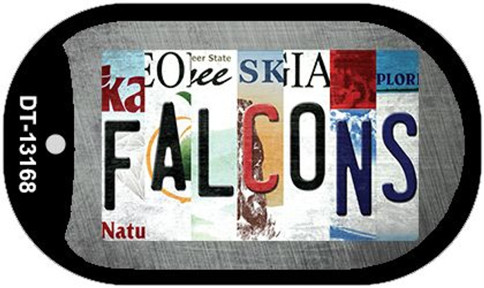 Falcons Strip Art Novelty Metal Dog Tag Necklace DT-13168