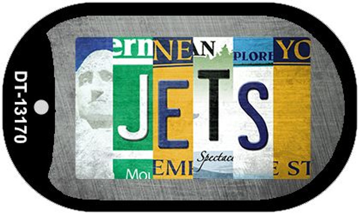 Jets Strip Art Novelty Metal Dog Tag Necklace DT-13170