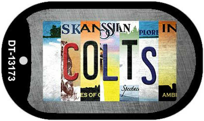 Colts Strip Art Novelty Metal Dog Tag Necklace DT-13173