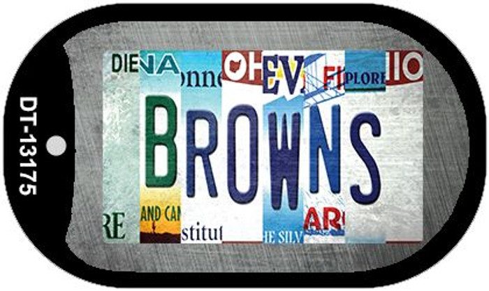Browns Strip Art Novelty Metal Dog Tag Necklace DT-13175