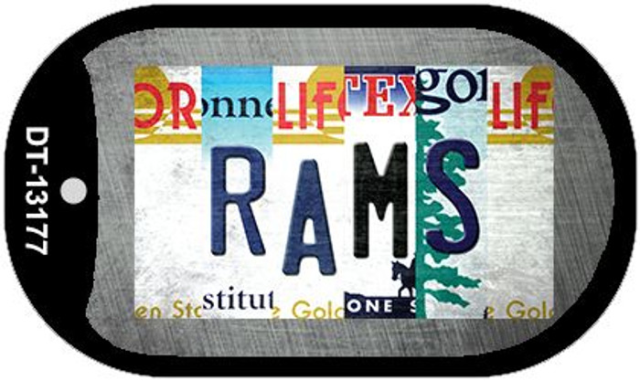 Rams Strip Art Novelty Metal Dog Tag Necklace DT-13177