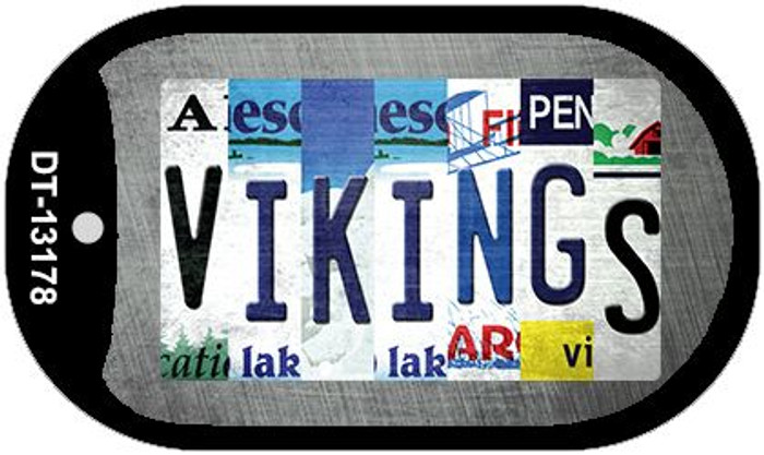 Vikings Strip Art Novelty Metal Dog Tag Necklace DT-13178