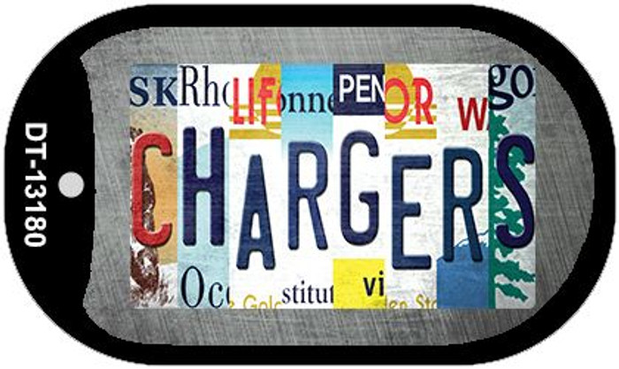 Chargers Strip Art Novelty Metal Dog Tag Necklace DT-13180