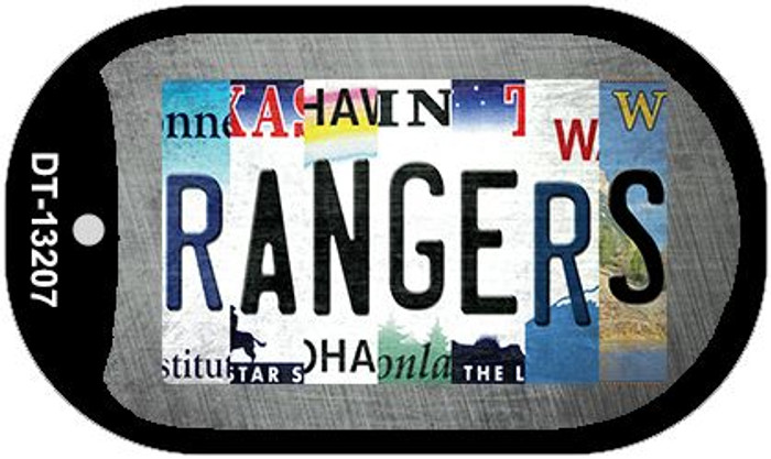 Rangers Strip Art Novelty Metal Dog Tag Necklace DT-13207