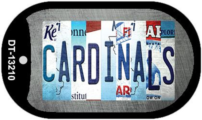 Cardinals Strip Art Novelty Metal Dog Tag Necklace DT-13210