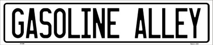 Gasoline Alley Metal Novelty Street Sign