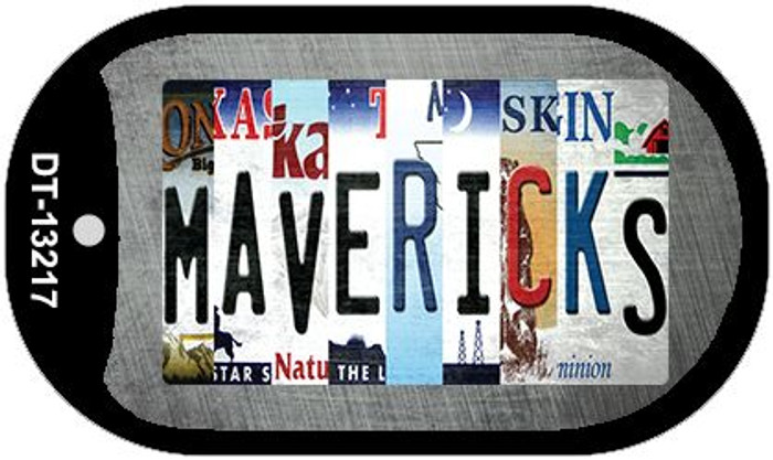 Mavericks Strip Art Novelty Metal Dog Tag Necklace DT-13217