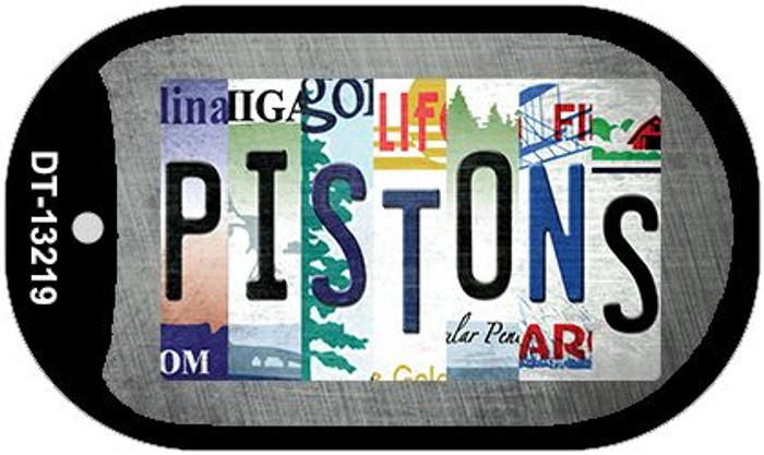 Pistons Strip Art Novelty Metal Dog Tag Necklace DT-13219