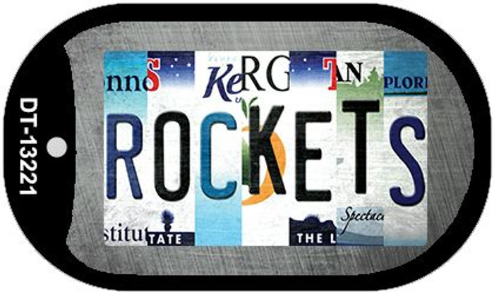 Rockets Strip Art Novelty Metal Dog Tag Necklace DT-13221