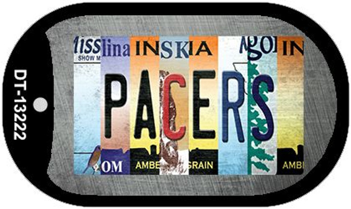 Pacers Strip Art Novelty Metal Dog Tag Necklace DT-13222
