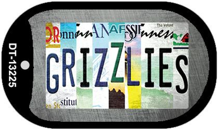 Grizzlies Strip Art Novelty Metal Dog Tag Necklace DT-13225