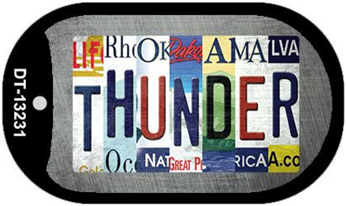 Thunder Strip Art Novelty Metal Dog Tag Necklace DT-13231