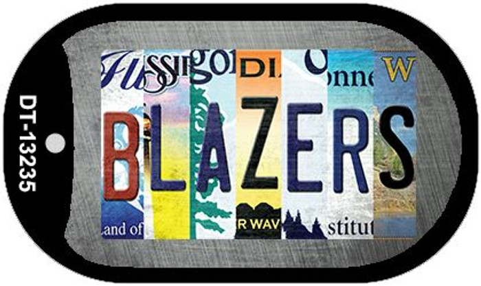 Blazers Strip Art Novelty Metal Dog Tag Necklace DT-13235