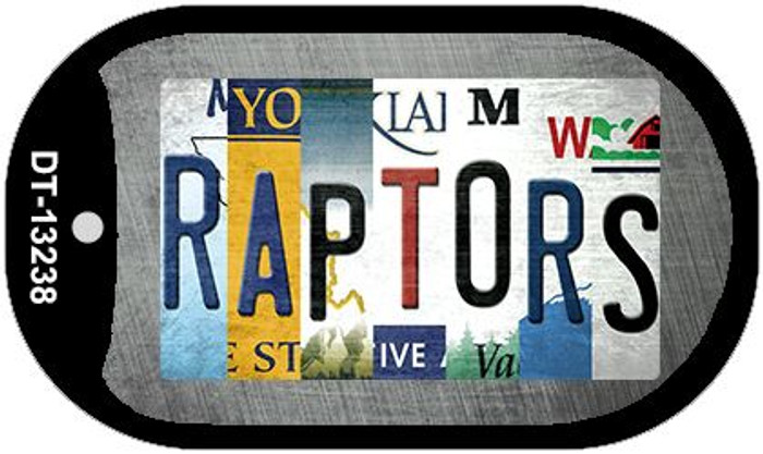 Raptors Strip Art Novelty Metal Dog Tag Necklace DT-13238