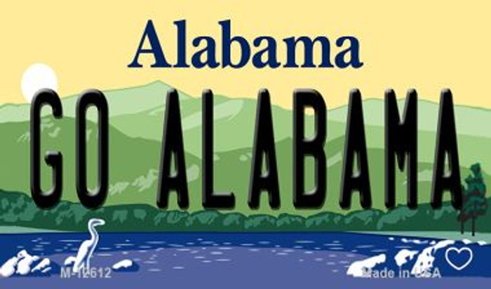 Go Alabama Novelty Metal Magnet M-12612