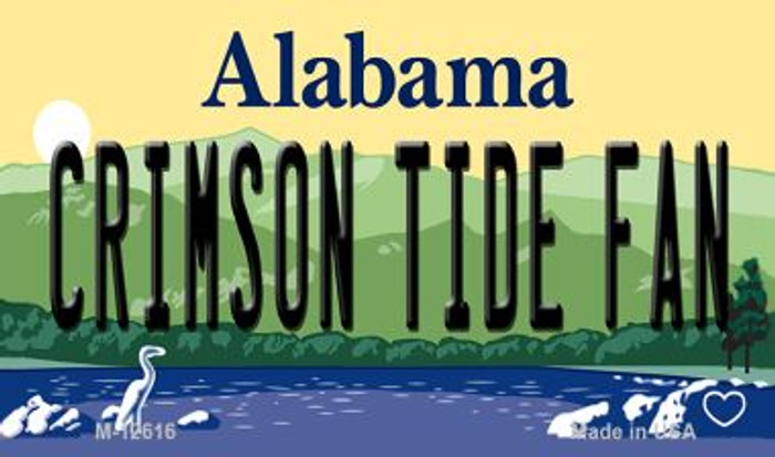 Crimson Tide Fan Novelty Metal Magnet M-12616