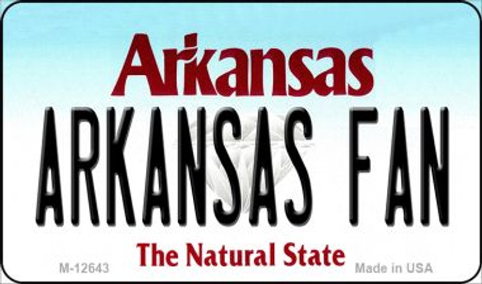 Arkansas Fan Novelty Metal Magnet M-12643