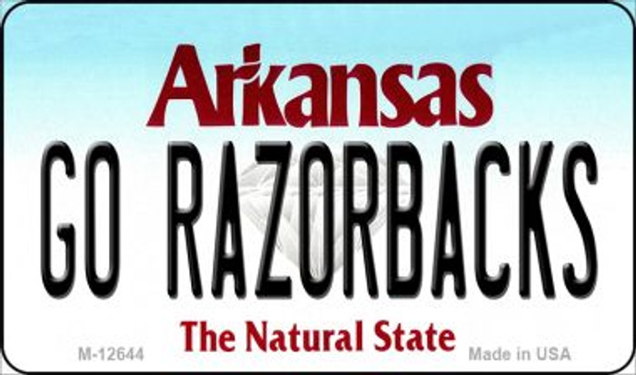 Go Razorbacks Novelty Metal Magnet M-12644