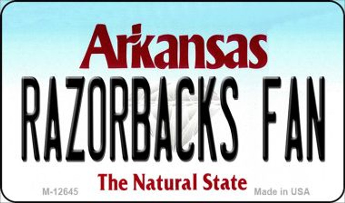 Razorbacks Fan Novelty Metal Magnet M-12645