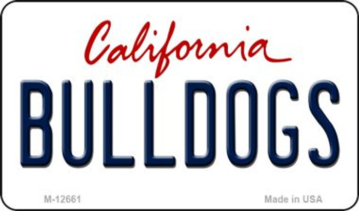 Bulldogs Novelty Metal Magnet M-12661